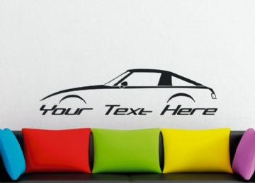 Large Custom car silhouette wall sticker - for Mazda RX7 , SA22C (1st gen) FB |  classic rotary